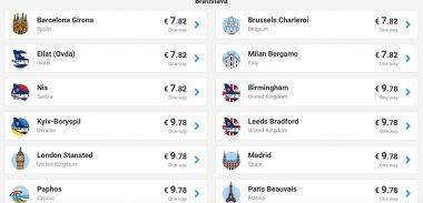 Zimný výpredaj Ryanair: Miláno, Brussel, Eilat, či Niš z Bratislavy už za skvelých 16€ (a mnoho ďalších)