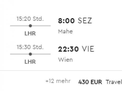 Z Viedne na SEYCHELY už od výborných 429€ (batožina v cene!)