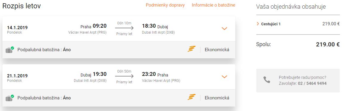 DUBAJ: Priame lety z Prahy za parádnych 219€ (batožina v cene)