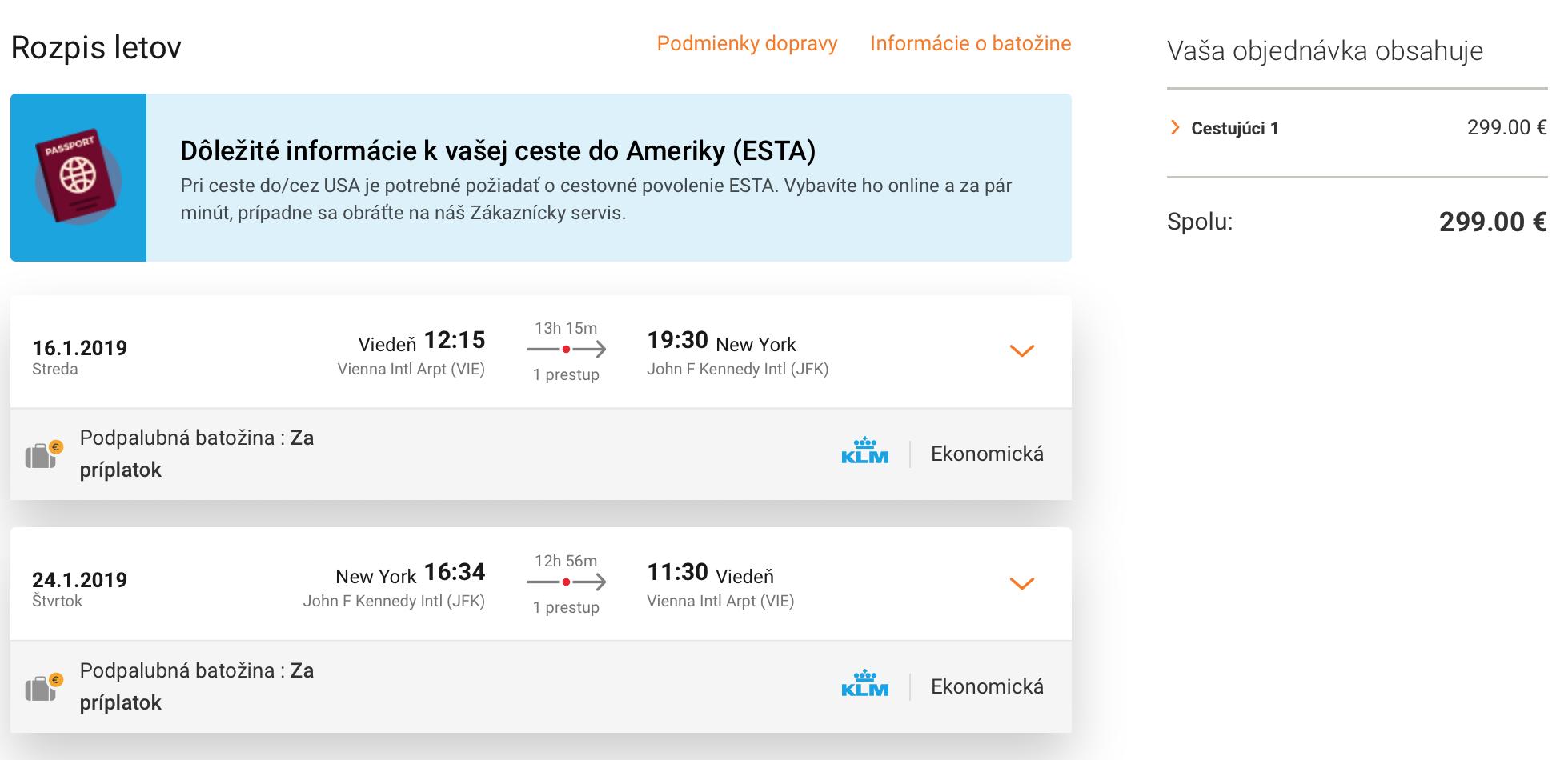NEW YORK: na novoročné výpredaje s letenkami z Viedne za skvelých 299€