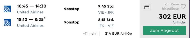 Priame lety z Viedne do New Yorku už od skvelých 302€ (veľa dátumov)