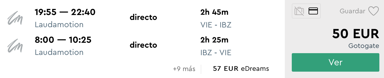 LETO 2019: Letenky na Ibizu z Viedne už od skvelých 50€
