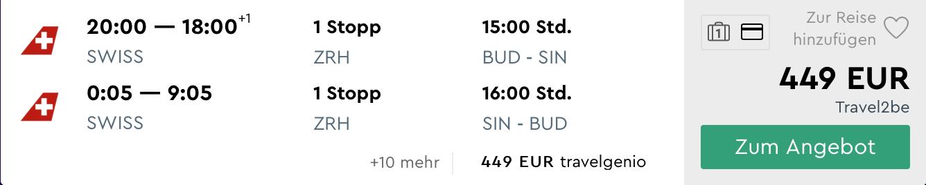 SINGAPUR za parádnych 449€ (odlet z Budapešti a batožina v cene!)