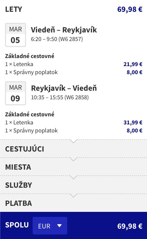 Za polárnou žiarou na ISLAND (Reykjavík) s odletom z Budapešti za skvelých 69€ (členovia WDC už za 43€)