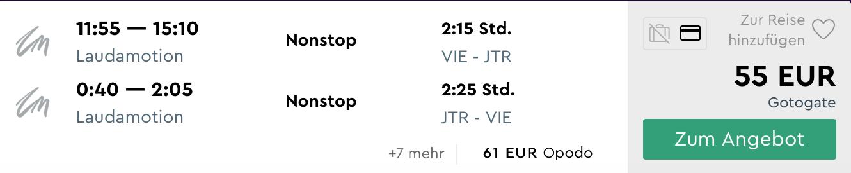 Aprílový výlet na SANTORINI: ubytovanie na 5 nocí  + letenka z Viedne za výborných 181€ (ak idú 2 osoby)