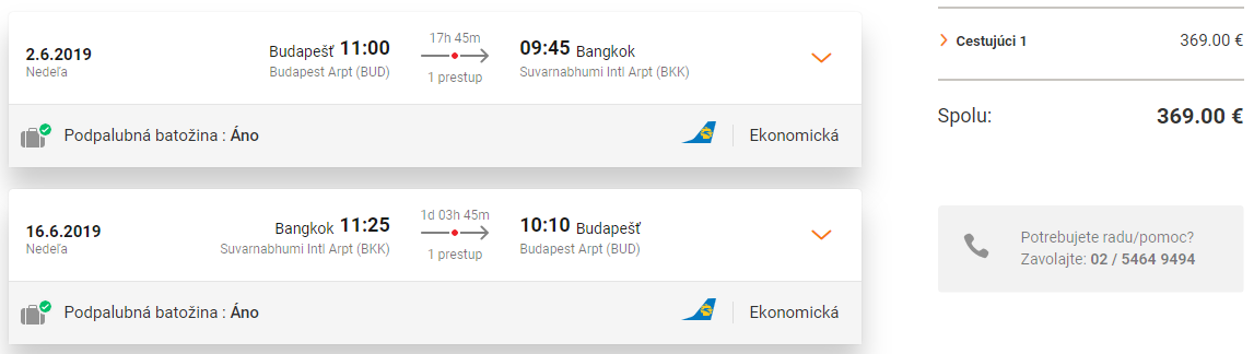 TOP: letenky do Bangkoku už od výborných 369€ (23kg batožina v cene!)