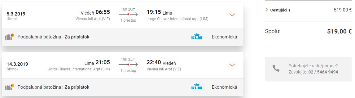 Peru: LIMA počas celého roka s letenkami z Viedne už za 519€