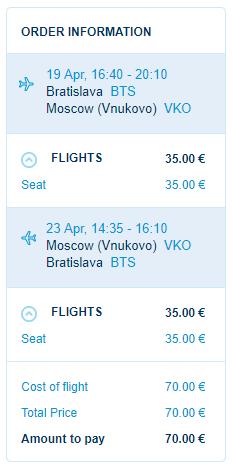 MOSKVA v príjemných jarných termínoch vrátane VEĽKEJ NOCI za výborných 70€ (odlet z Bratislavy)