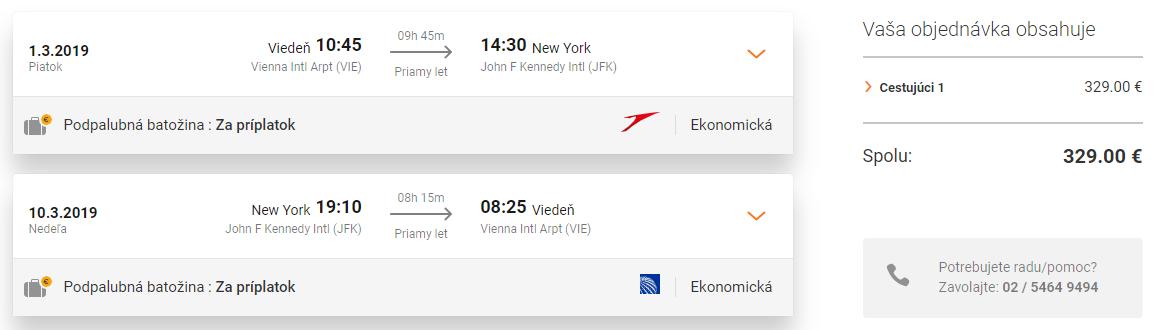 Jarné prázdniny v NEW YORKU za výborných 329€ (PRIAMY LET z Viedne)