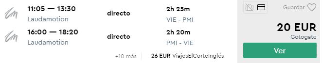 MALLORCA: na jar už od 20€, začiatkom leta už od 40€ (odlet z Viedne)