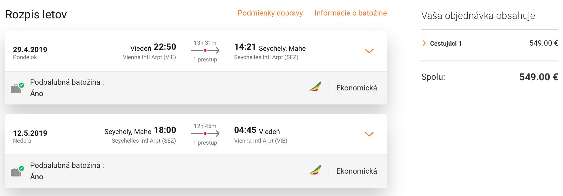 SEYCHELY:  z Viedne do raja napr. počas májových sviatkov už za 549€ (batožina v cene!)