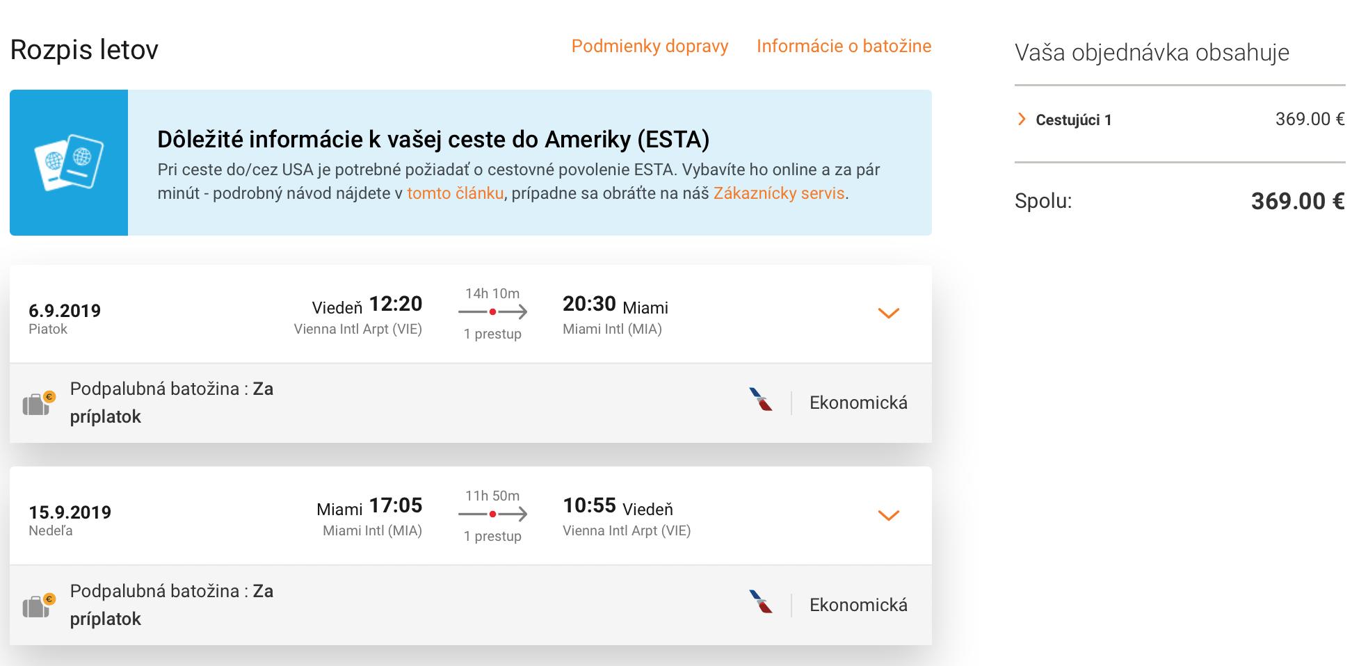 Florida: letenky do MIAMI z Viedne už za 369€