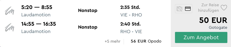 Májový RODOS s letenkami z Viedne za veľmi dobrých 50€