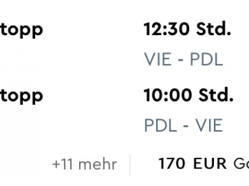 AZORSKÉ OSTROVY (Ponta Delgada) na Veľkú noc, či v letných termínoch s odletom z Viedne za parádnych 168€