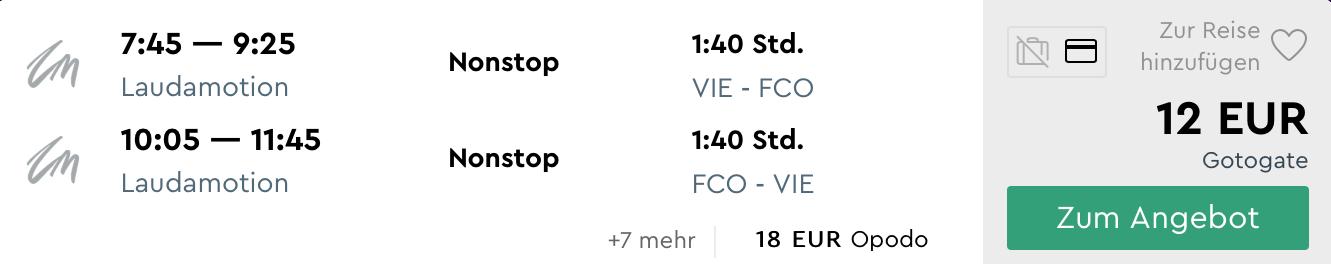MEGA PONUKA: RÍM z Viedne za neskutočných 12€