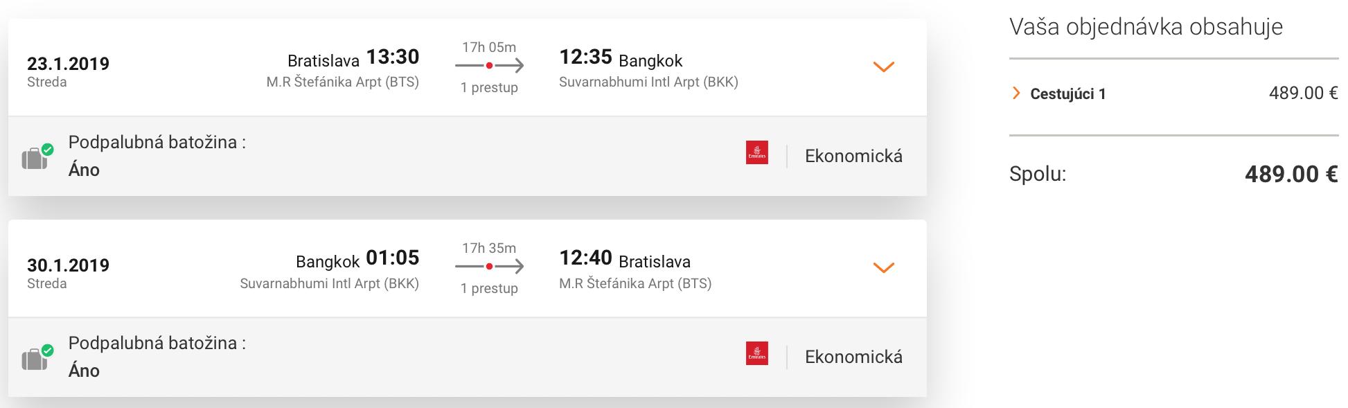 THAJSKO: Do Bangkoku z Bratislavy už za 489€ (batožina v cene!)