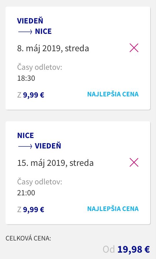 Azúrové pobrežie: Nice s odletom z Viedne už za výborných 40€ (členovia WDC za ešte lepších 20€)