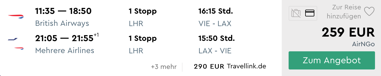 LOS ANGELES (aj cez jarné prázdniny) s odletom z Viedne od parádnych 259€