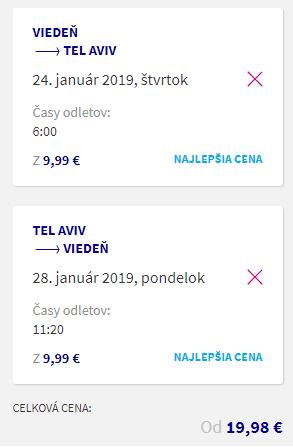 Izrael: TEL AVIV s odletom z Viedne už za výborných 40€ (členovia WDC za ešte lepších 20€)