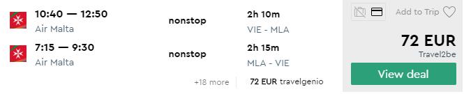 MALTA s odletom z Viedne cez LETO za parádnych 72€ (veľa termínov!)