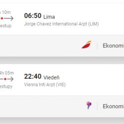PERU: Lima s odletom z Viedne už za 549€ (batožina v cene!)