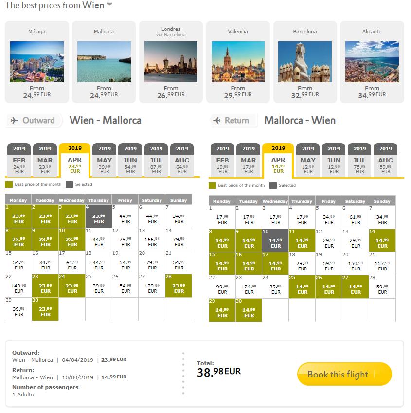 NOVOROČNÝ VÝPREDAJ VUELING: napríklad Mallorca z Viedne už za 39€ spiatočne