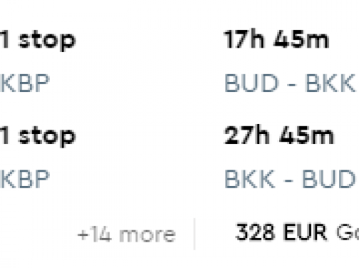 Do BANGKOKU z Budapešti za fantastických 306€ (batožina v cene!)