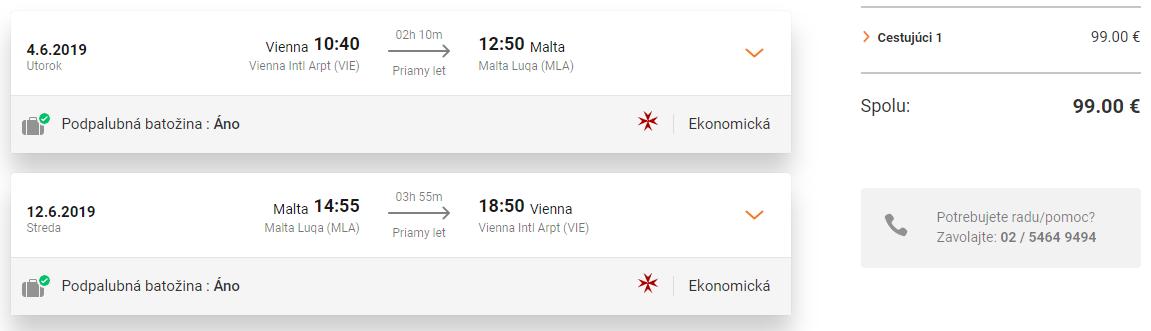 MALTA na Veľkú noc alebo v lete s odletom z Viedne za výborných 99€ (23kg batožina v cene!)