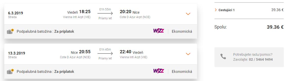 Azúrové pobrežie: NICE s odletom z Viedne od perfektných 39€