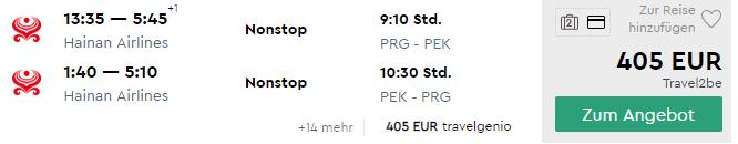 Čína: priame lety do PEKINGU s 5* Hainan Airlines s odletom z Prahy za výborných 405€ (2x batožina v cene!)