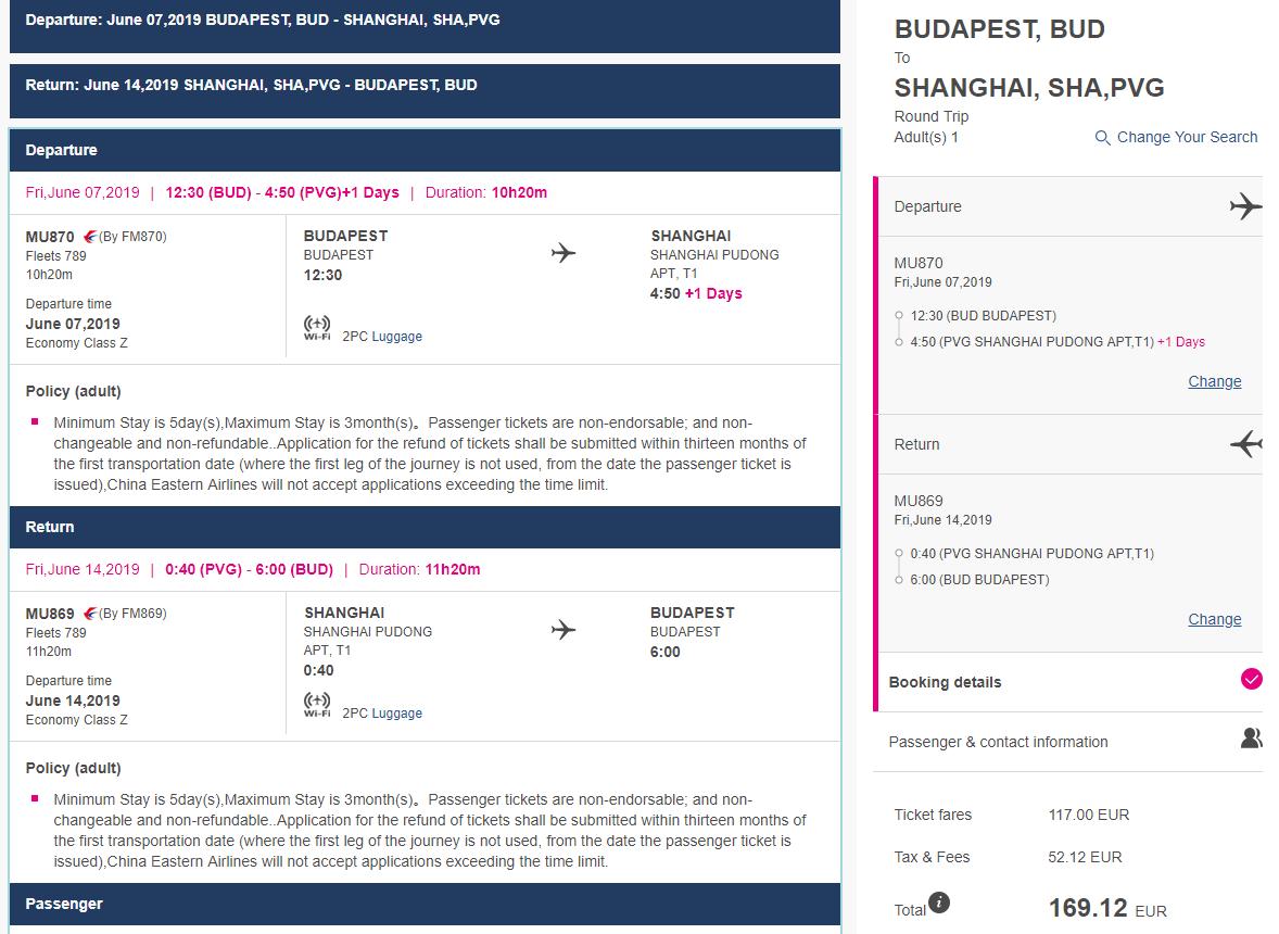 MEGA PONUKA: priame lety z Budapešti do ŠANGHAJA za neskutočných 169€ (batožina v cene!)