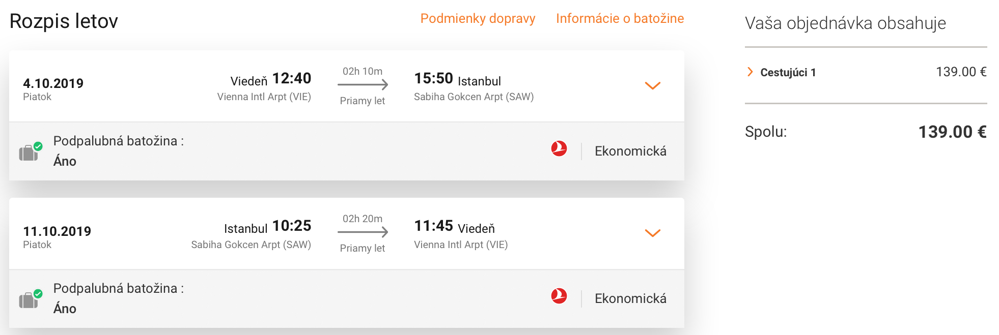 Istanbul s Turkish Airlines s odletom z Viedne už za 139€ (batožina v cene!)