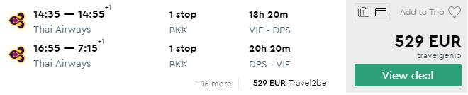 Na BALI so špičkovými Thai Airways s odletom z Viedne za výborných 529€ (20kg batožina v cene!)