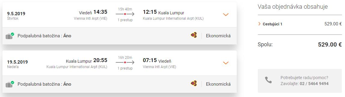 Malajzia: KUALA LUMPUR s odletom z Viedne už za 529€ (batožina v cene!)