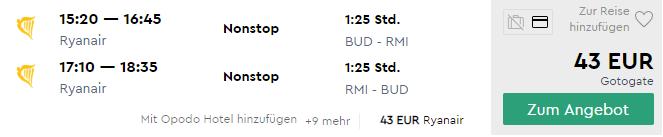 Na letnú dovolenku do RIMINI s letenkami z Budapešti od parádnych 43€