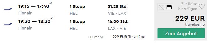 Z Viedne do LOS ANGELES začiatkom leta za fantastických 229€