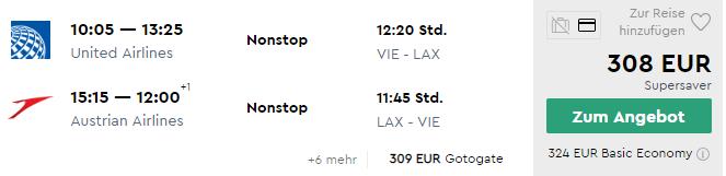 Priame lety z Viedne do LOS ANGELES za skvelých 308€ (napr. aj počas májových sviatkov!)