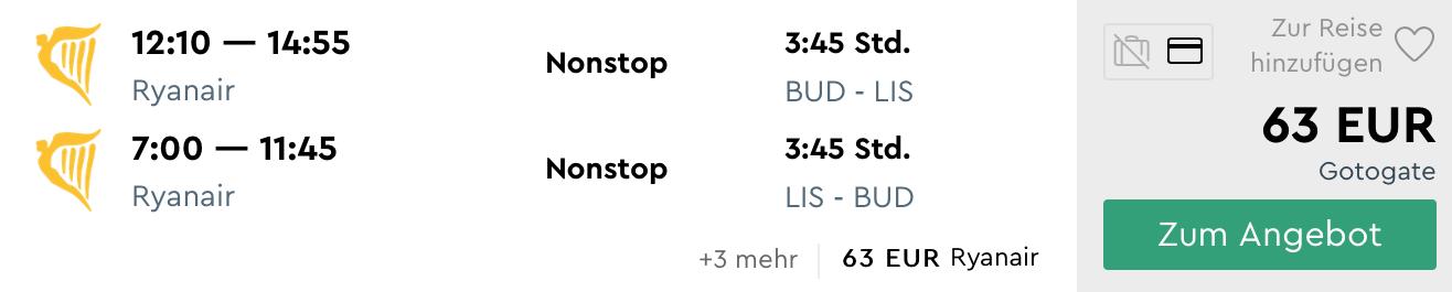Novinka Ryanair: 2 nové linky z Budapešti do Portugalska (Lisabon a Porto už od 63€)