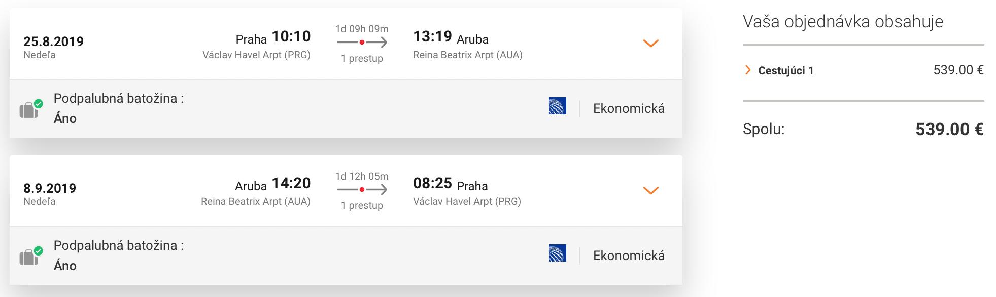 Karibik: ARUBA s odletom z Prahy a zastávkou v NY za výborných 539€ (batožina v cene!)