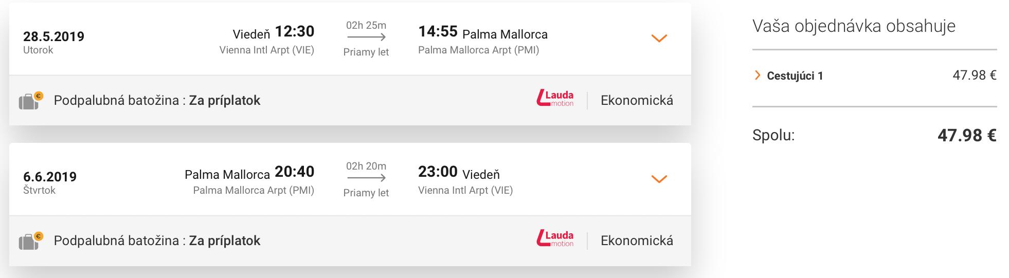 MALLORCA začiatkom leta od veľmi príjemných 48€ (odlet z Viedne)