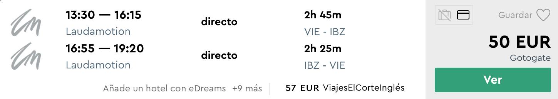 Júnová IBIZA s odletom z Viedne za veľmi dobrých 50€