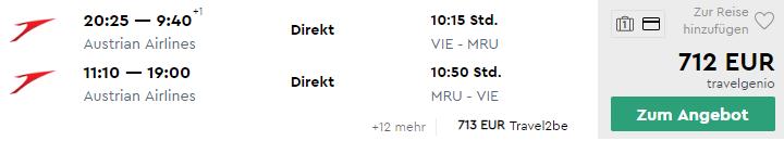 Priame lety z Viedne na MAURÍCIUS za veľmi dobrých 712€ (batožina v cene a termíny aj na Vianoce!)