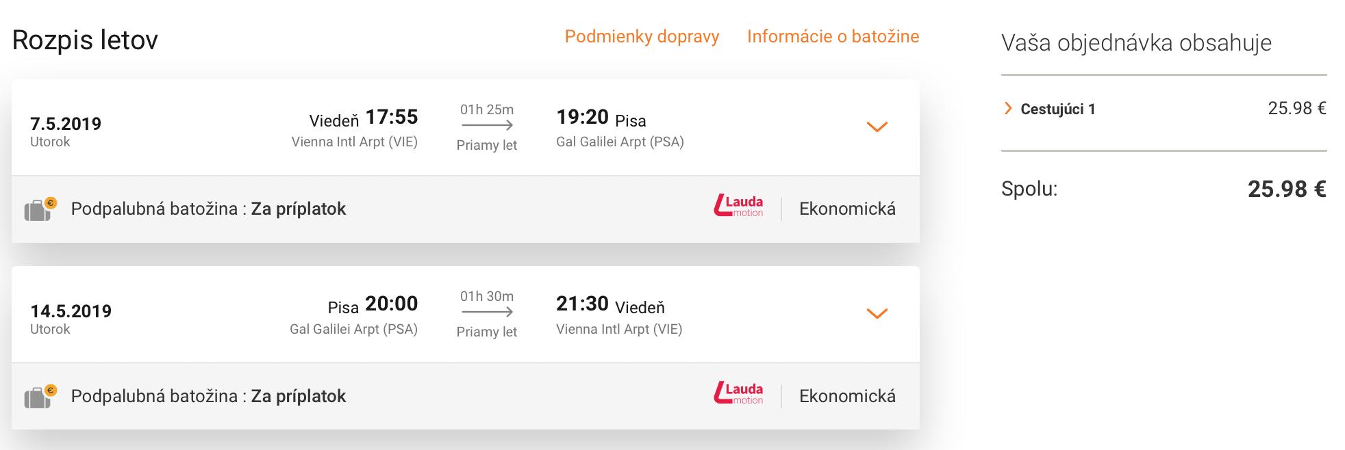 PISA: jarné Toskánsko s odletom z Viedne za parádnych 26€ (aj Veľká noc či májové sviatky!)