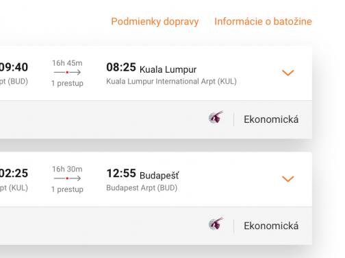 Malajzia: z Budapešti do KUALA LUMPUR s 5* Qatar Airways za veľmi dobrých 479€ (batožina v cene!)