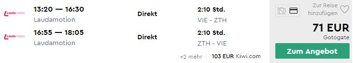 ZAKYNTHOS začiatkom leta za výborných 71€ (odlet z Viedne)