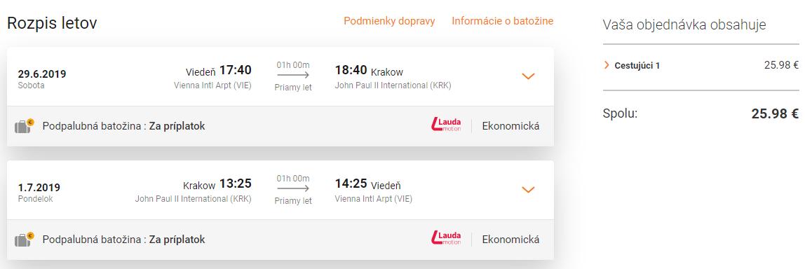KRAKOW s odletom z Viedne (aj počas letných prázdnin) za výborných 25€