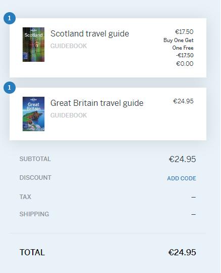 Akcia Lonely Planet 1+1: kúp jeden produkt a druhý máš zdarma