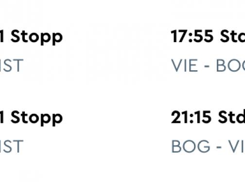 Kolumbia: letenky z Viedne do BOGOTY za výborných 396€ (batožina v cene!)