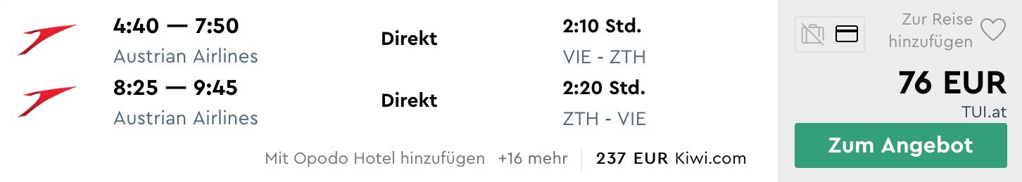 Last Minute letenka na ZAKYNTHOS z Viedne za veľmi dobrých 76€ (batožina v cene!)