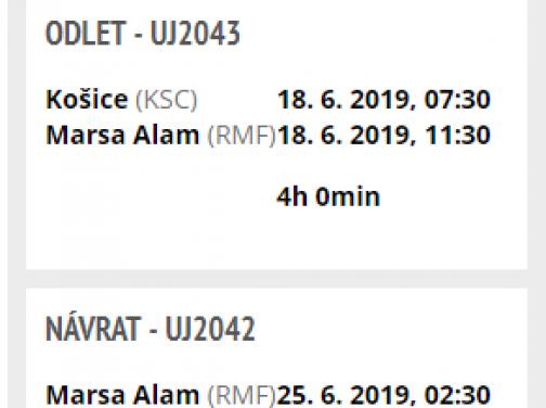 Last Minute letenka do Egypta: MARSA ALAM s odletom z Košíc za výborných 77€ (batožina v cene!)